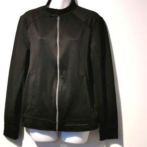Armani exchange size s zip up black jacket